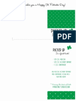 St Patricks Recipe and Note Card