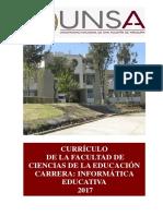 Currículo Informatica Educativa