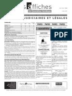 Petites Affiches - Annonces Légales - 2015-03-02