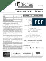 Petites Affiches - Annonces Légales - 2015-03-05