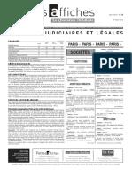 Petites Affiches - Annonces Légales - 2015-03-09