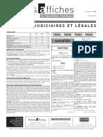 Petites Affiches - Annonces Légales - 2015-03-10
