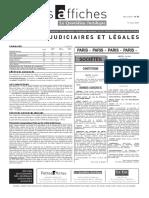 Petites Affiches - Annonces Légales - 2015-03-11