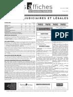 Petites Affiches - Annonces Légales - 2015-03-16