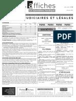 Petites Affiches - Annonces Légales - 2015-03-23