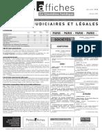 Petites Affiches - Annonces Légales - 2015-03-26