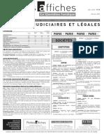 Petites Affiches - Annonces Légales - 2015-03-30