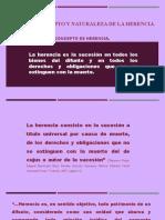 TEMA IV CONCEPTO Y NATURALEZA JURÍDICA DE LA HERENCIA