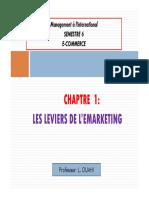 Chapitre 1 Les Leviers de Lemarketing