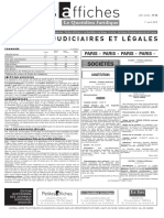 Petites Affiches - Annonces Légales - 2015-04-01
