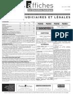 Petites Affiches - Annonces Légales - 2015-04-02
