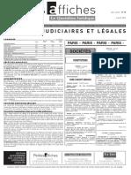 Petites Affiches - Annonces Légales - 2015-04-08