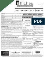 Petites Affiches - Annonces Légales - 2015-04-09