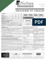 Petites Affiches - Annonces Légales - 2015-04-14