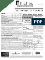 Petites Affiches - Annonces Légales - 2015-04-30