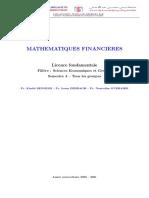 Notes cours Maths Financières 2020-21