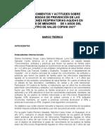 """2--""""CONOCIMIENTOS Y ACTITUDES SOBRE LAS MEDIDAS DE PREVENCIÓN DE LAS INFECCIONES RESPIRATORIAS AGUDAS EN MADRES DE MENORES^G^G^G^G^G^G^G^G^G ^GDE 5 AÑOS DEL CENTRO DE SALUD COPANI 2021"""""""