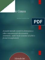 Metoda Lui Gauss Manoli Dan