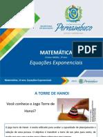 Equações exponenciais resumo