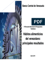 Hábitos Alimenticios Del Venezolano BCV 2011