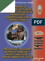 Compendio de Elementos Contables, De Calculo de Costosy Tecnicas de Produccion Agropecuaria Para Productores