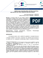 Positivismo Fenomenologia e Materialismo Historico Dialetico Uma Sintese Das Tres Correntes Metodologicas