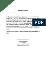 REFERENCIA PERSONAL Carlos Alfredo