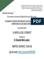 SEP-INVITACION CONFERENCIA  BATALLA 5 DE MAYO