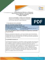 Guia de Actividades y Rúbrica de Evaluación - Unidad 3 - Paso 4 - Análisis