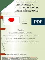 REGLEMENTAREA  A PREŢURILOR , TARIFELOR ȘI A CONCURENȚEI ÎN JAPONIA