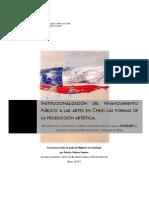 INSTITUCIONALIZACIÓN DEL FINANCIAMIENTO PÚBLICO A LAS ARTES EN CHILE