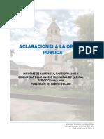 Reporte Aclaratorio Estadisticas Concejo