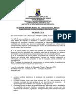 PROVA PRÁTICA - EDITAL  98-2020 Lutas