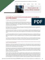 A inovação do acordo de não persecução penal e sua incidência aos crimes militares