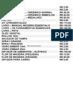 Tabela de Preços Vital RJ