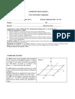 Supletorio parcial 1  electricidad y magnetismo upb