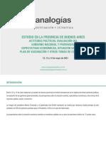 Estudio ANALOGÍAS PBA - Mayo.