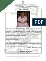 Nota de Pesar  Ebomi de Nanã  18.03.2020