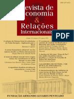 2013-REVISTA Economia e Relações Internacionais, 2013