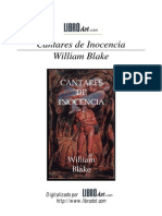 Cantares de Inocencia - William Blake