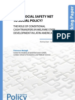 IPCWorkingPaper60 - From Social Safety Net to Social Policy? The Role of Conditional Cash Transfers in Welfare State Development in Latin America