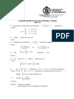 Certamen 1 - Cálculo Integral y Series (2008-2)