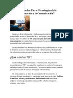 Qué Son Las Tics o Tecnologías de La Información y La Comunicación (1)