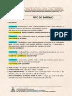 PASTORAL DO BATISMO - RITO DO BATISMO4.0