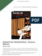 KARATE-DO TRADICIONAL. Técnicas Básicas