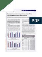 Комплексное влияние добавок на свойства портландцементных сухих смесей