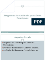 Aula 11 - Programa de Auditoria Área Financeira