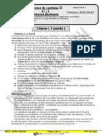 Devoir de Synthèse N°1 - Sciences physiques - Bac Mathématiques (2020-2021) Mr Sfaxi Salah