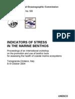 Indicators of Stress in the Marine Benthos - UNESCO/IOC Workshop Reports, 195