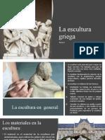 Tema 1. Escultura Griega.